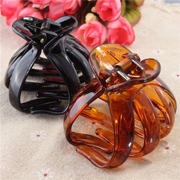 Women Girls Plastic Octopus Hair Claw Clip Butterfly Hair Accessories