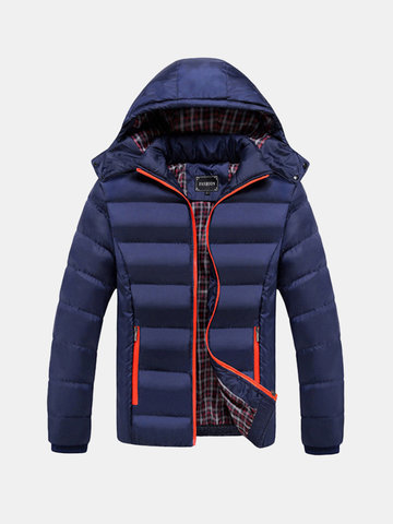 Plus Size Hooded Padded Jackets