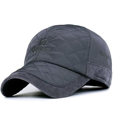 Мужчины Женщины Кордуар Earflap Бейсболка Регулируемые Earmuffs Гольф Открытый Спорт Hat