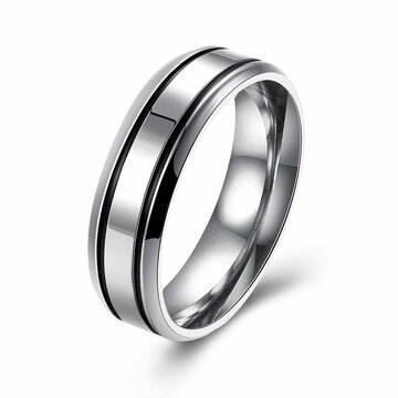 Simple Couple Ring Stainless Steel Wedding Ring
