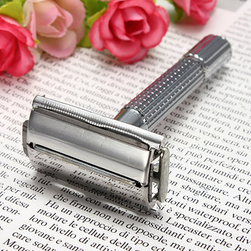 Traditional Safety Double Edge Blade Shave Shaving Hair Razor With Mirror Men