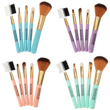 MAANGE 5Pcs Makeup Brushes Kit Professional Foundation Blush Eye Shadow Cosmetic Tools