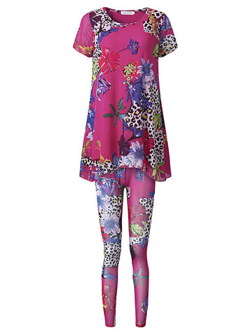 Women Floral Printed Casual Yoga Tracksuits