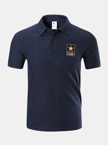 Mens Outdoor Tactical Military Short Sleeve Tops Golf Baseball Casual Sport Polo Shirt