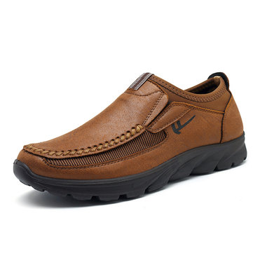 Men Large Size Microfiber Leather Casual Shoes