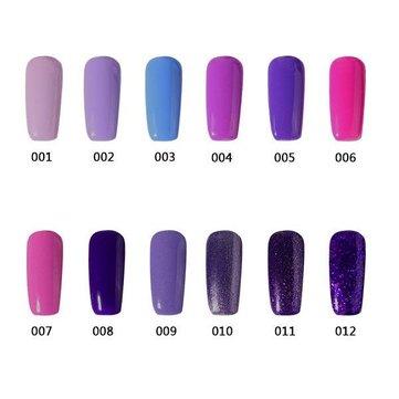 12 цветов УЛЬТРАФИОЛЕТОВЫЙ Гель Польский Soak-off Nail Glue Noble Purple Очаровательный 12ml