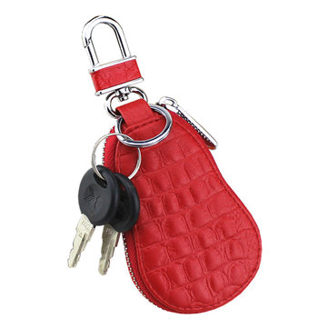 Men Car Key Holder Microfiber Leather Coin Bag Crocodile Gourd Type Key Bag