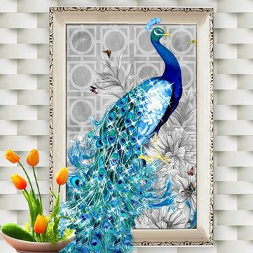 DIY Peacock 5D Diamond Embroidery Paintings