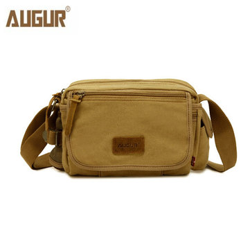 AUGUR Men Canvas Versatile New Crossbody Bag Shoulder Bag