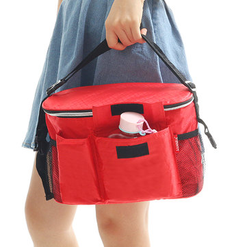 SaicleHome 8L Waterproof Insulated Thermal Cooler Bag Picnic Lunch Box Storage Foldable Tote Bag