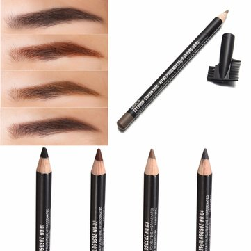4 Colors Waterproof Eyebrow Pencil Pen Brush Makeup Cosmetic Beauty Tools