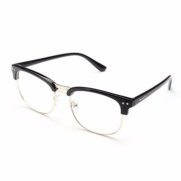 Men Women Vintage Retro Half Frame Clear Lens Glasses Eyewear Eyeglasses