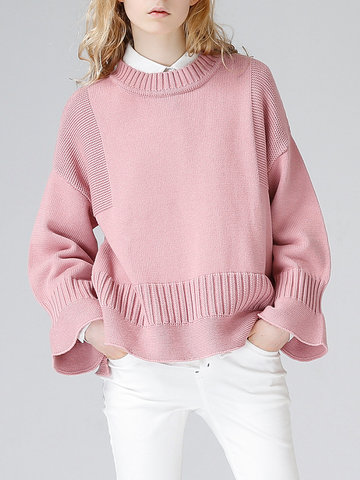 TOYOUTH Pure Color Sweaters