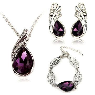 Комплект ювелирных изделий из фиолетового сплава