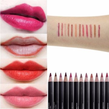 IMAGIC 12 Colors Lip Liner Pen Lipstick Pencil Lips Makeup Cosmetic