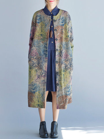 Printed Vintage Wool Trench Coats