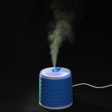 USB Blue Mini Portable Ultrasonic Air Purifier Humidifier Diffuser Cylindrical