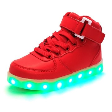 Children LED Light Shoes Unisex USB Charge Colorful Casual Sneakers