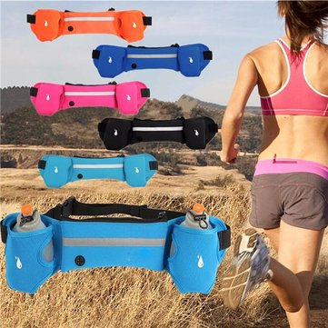 Sport Fitness Water Bottle Waist Belt Bum Bag Running Jogging Marathon Pouch
