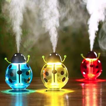 Portable Mini LED Beatles USB Air Ultrasonic Humidifier Night Light Aroma Mist Maker 3 Colors