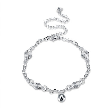 YUEYIN Simple Anklet Silver Bell Casual Anklet