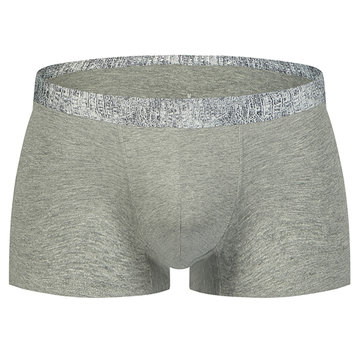 Sexy Anti Bacterial Breathable Cotton Stitching Boxer Underwear for Men