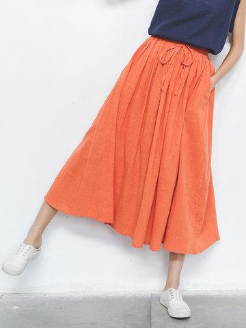 Повседневные чистые эластичные юбки для женщин