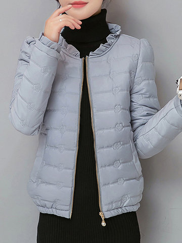 Floral Women Padded Coats