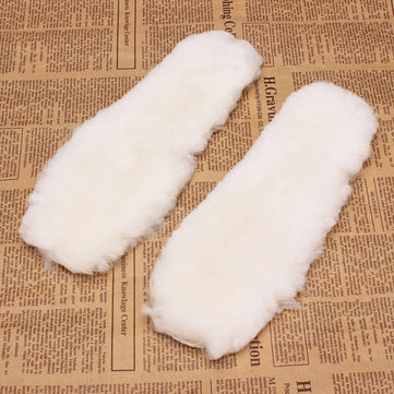 Women Men Fake Fur Warm Snow Boots Insoles Shoe Pad
