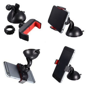 360 Degree Rotatable  Phone Bracket Universal Mini Suction Cup Car Windshield Mount Holder